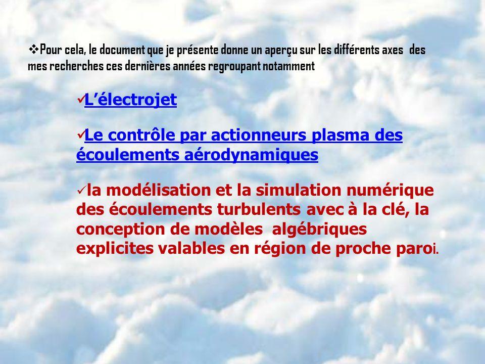 Le contrôle par actionneurs plasma des écoulements aérodynamiques