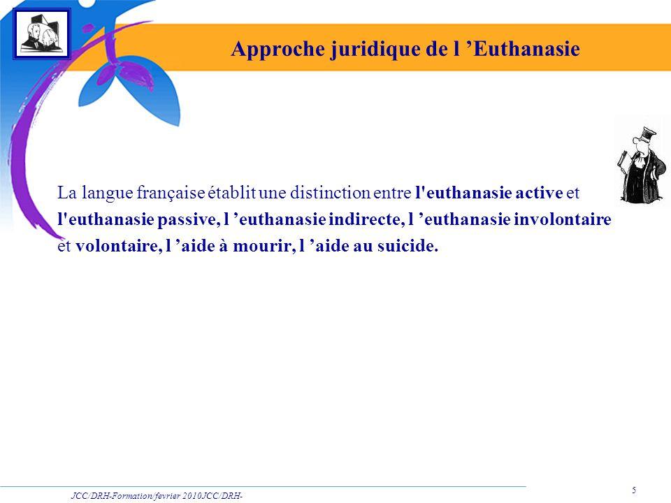 Approche juridique de l 'Euthanasie