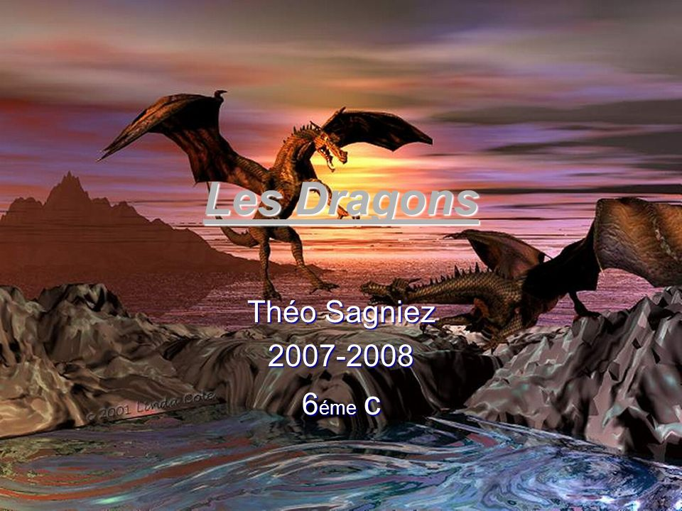 Les Dragons Théo Sagniez 2007-2008 6éme c