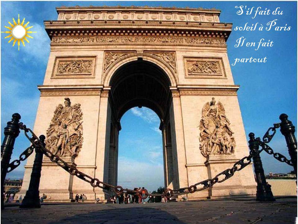 S il fait du soleil à Paris Il en fait partout