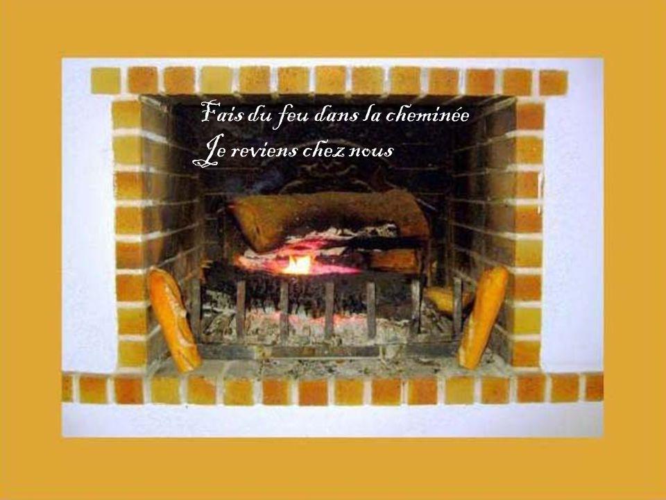 Fais du feu dans la cheminée Je reviens chez nous