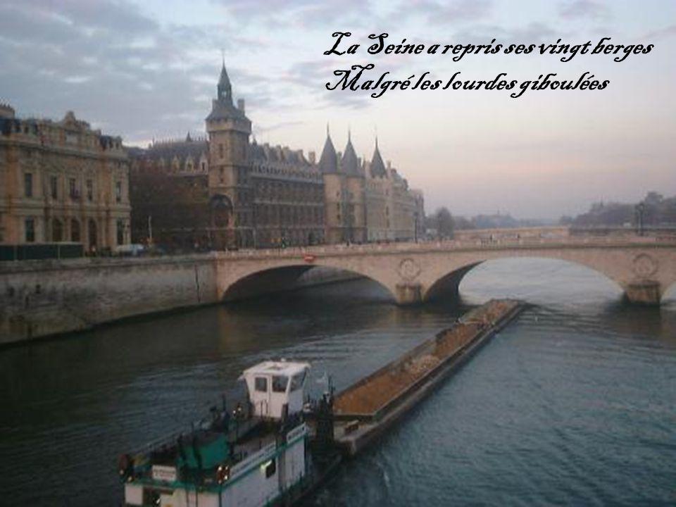 La Seine a repris ses vingt berges Malgré les lourdes giboulées