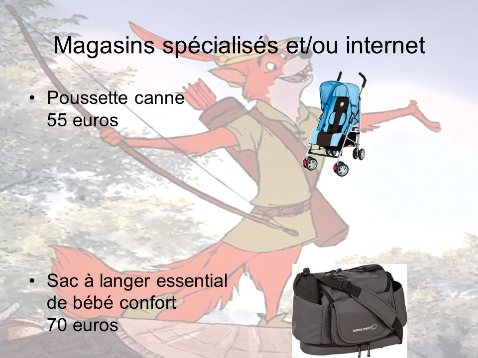 Magasins spécialisés et/ou internet