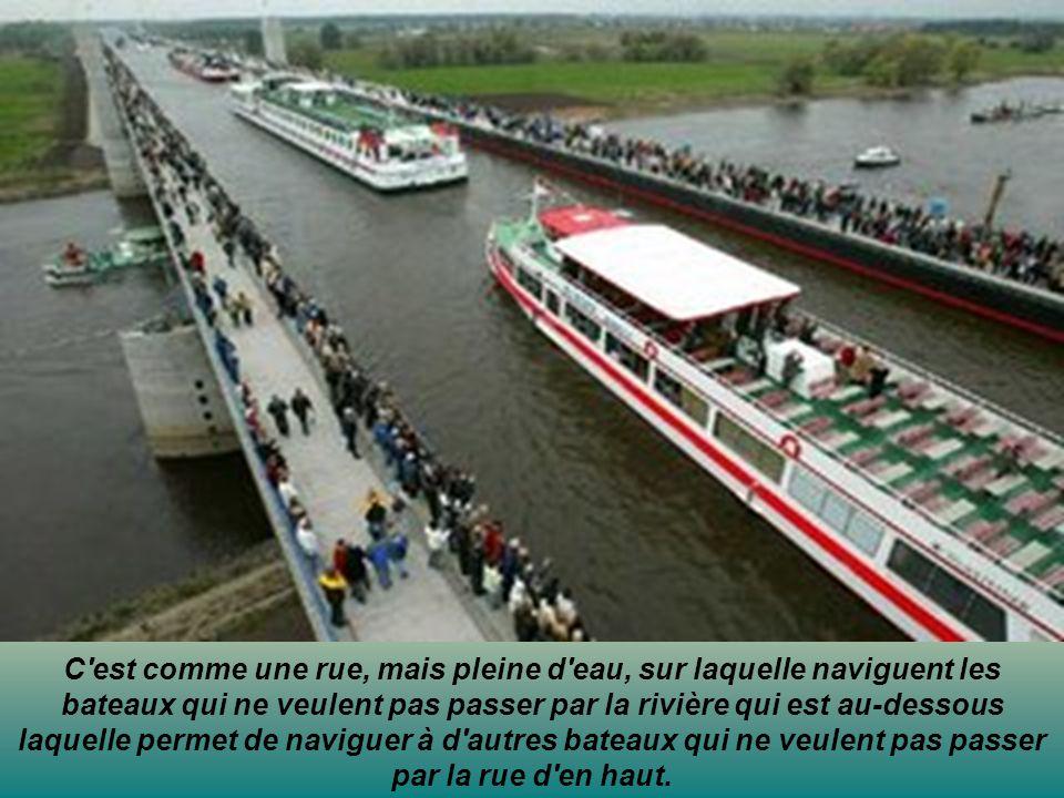 C est comme une rue, mais pleine d eau, sur laquelle naviguent les bateaux qui ne veulent pas passer par la rivière qui est au-dessous laquelle permet de naviguer à d autres bateaux qui ne veulent pas passer par la rue d en haut.