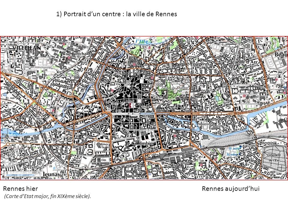 1) Portrait d'un centre : la ville de Rennes