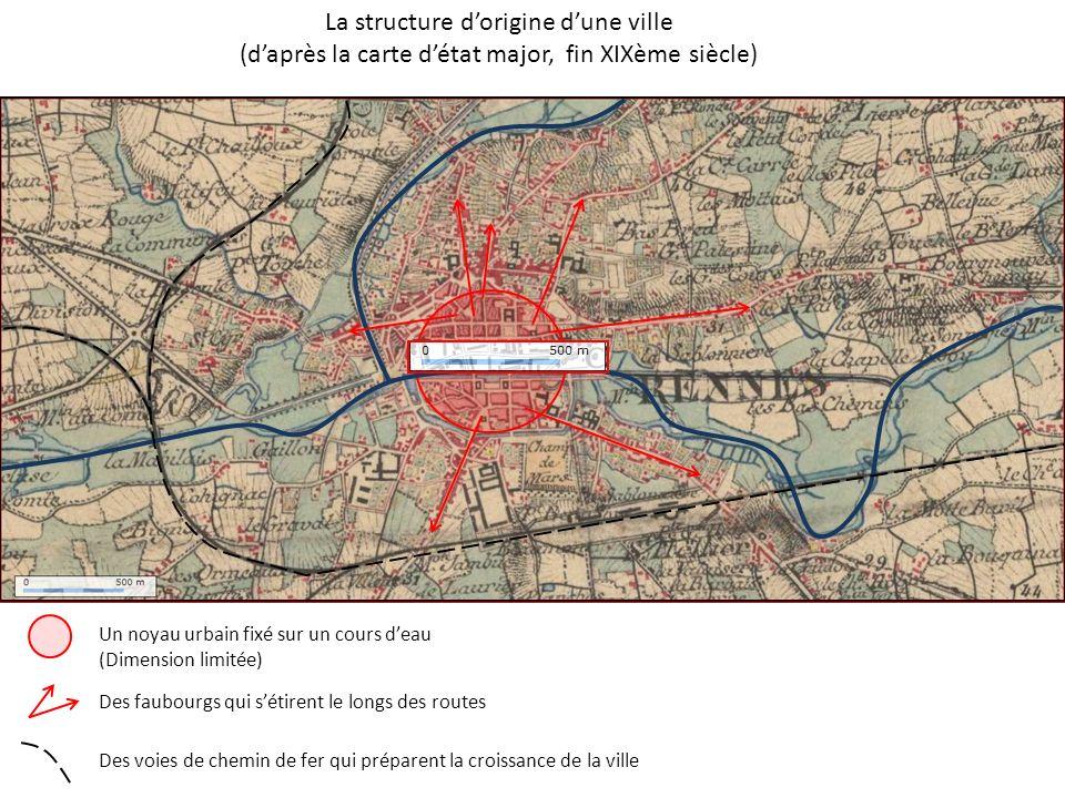 La structure d'origine d'une ville