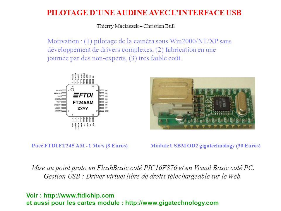 Puce FTDI FT245 AM - 1 Mo/s (8 Euros)