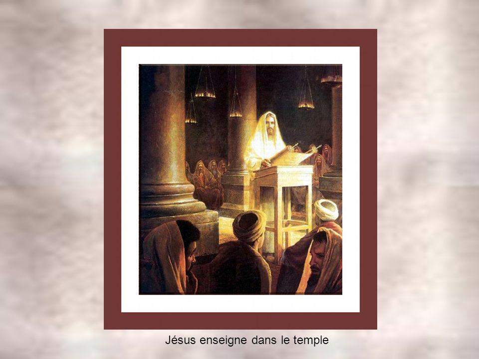Jésus enseigne dans le temple