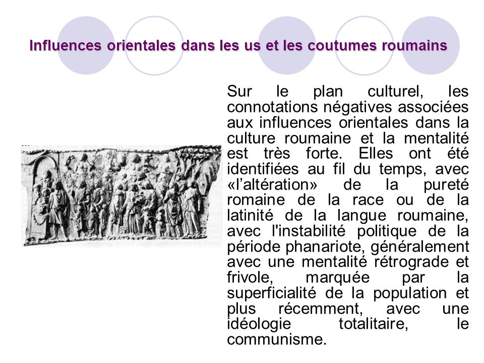 Influences orientales dans les us et les coutumes roumains