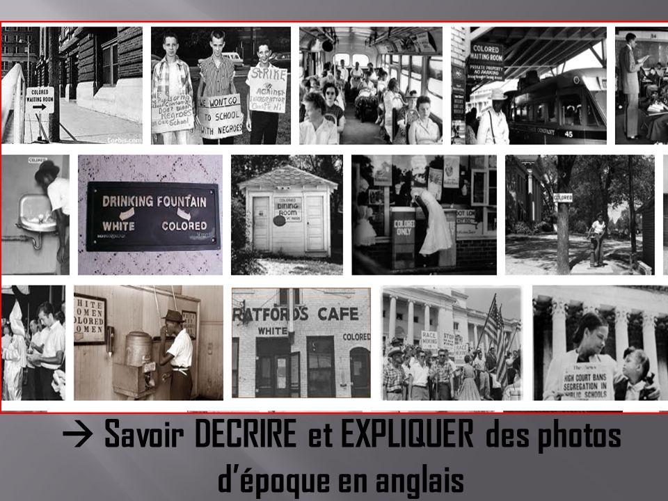  Savoir DECRIRE et EXPLIQUER des photos d'époque en anglais