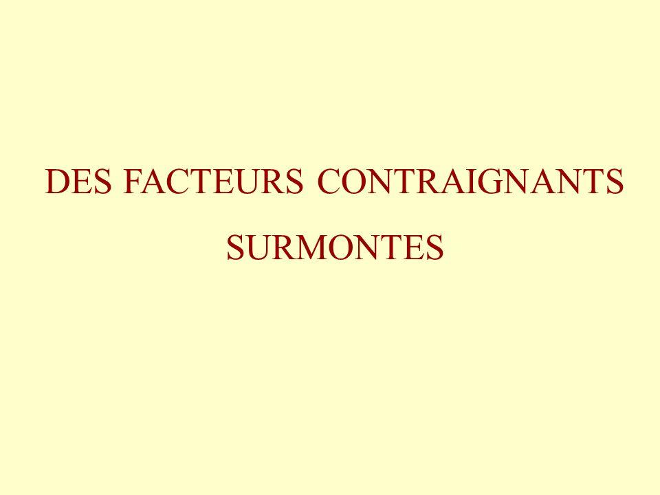 DES FACTEURS CONTRAIGNANTS