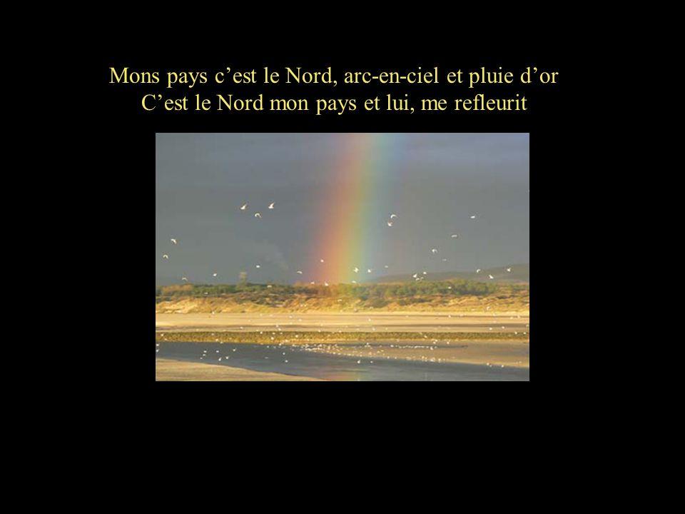 Mons pays c'est le Nord, arc-en-ciel et pluie d'or