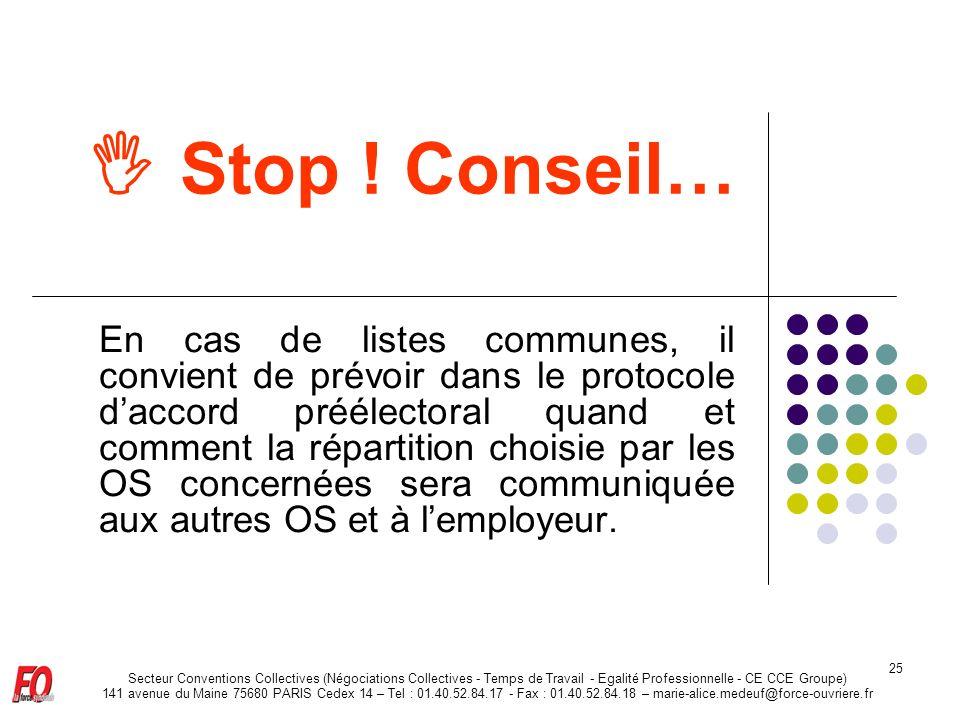  Stop ! Conseil…