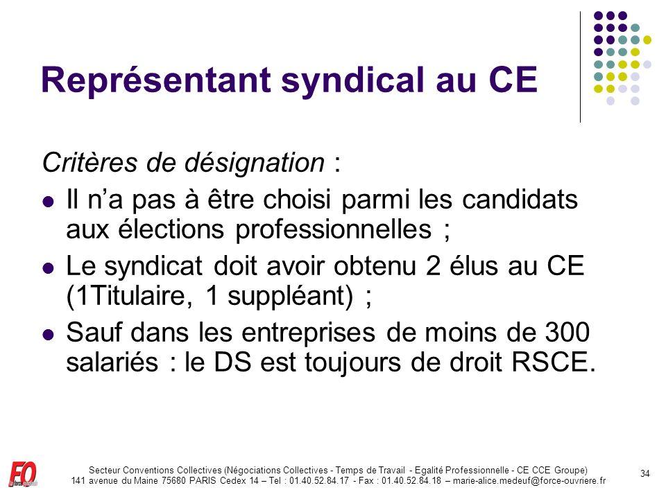 Représentant syndical au CE