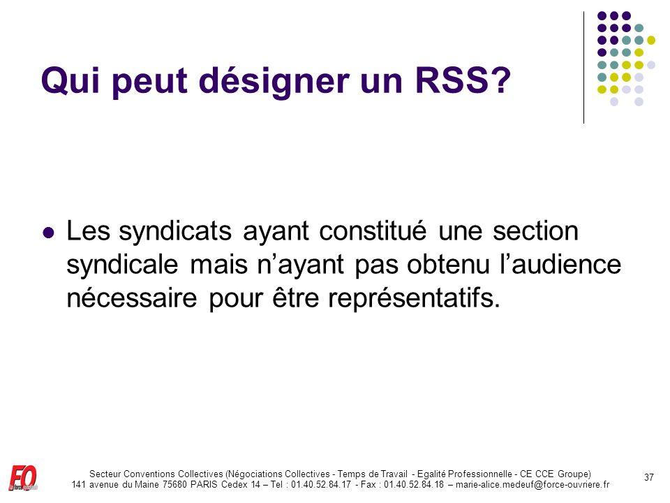 Qui peut désigner un RSS