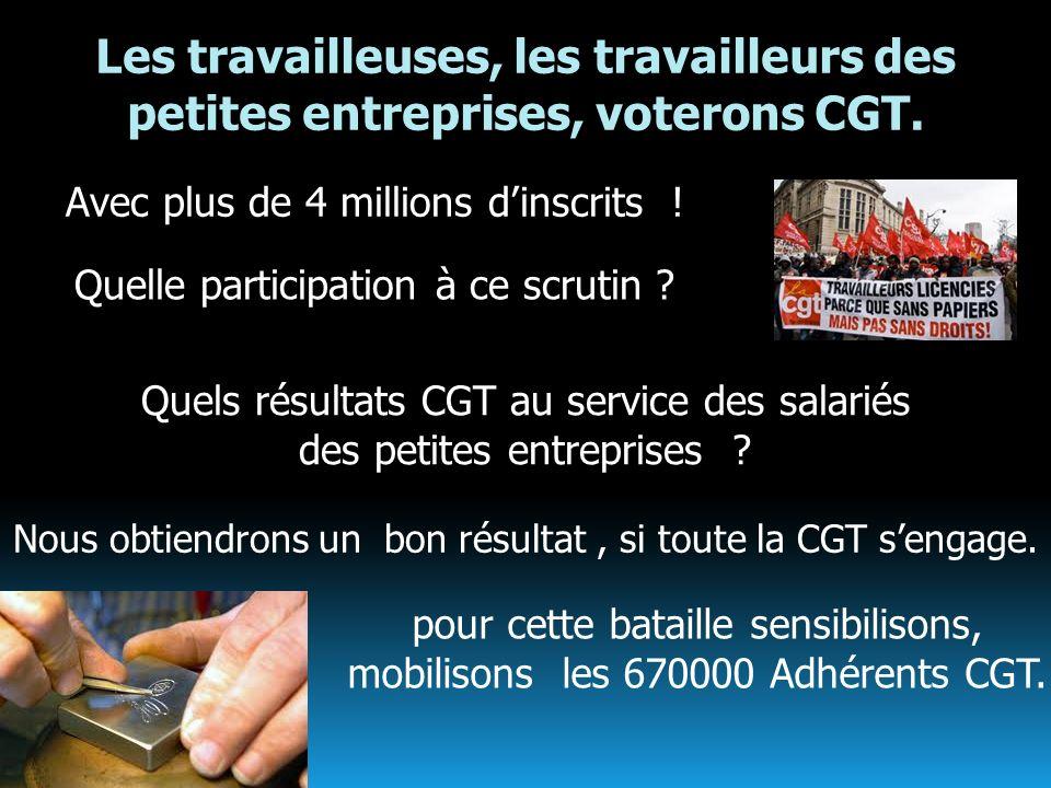 Les travailleuses, les travailleurs des petites entreprises, voterons CGT.