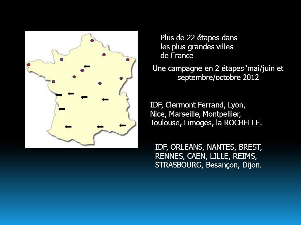 Une campagne en 2 étapes 'mai/juin et septembre/octobre 2012