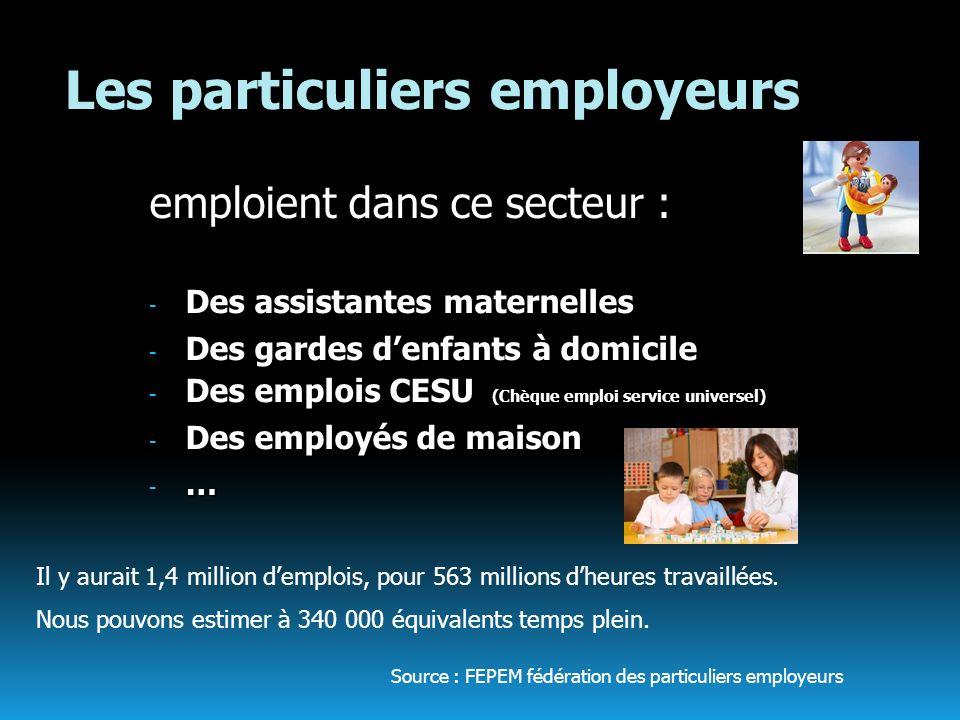 Les particuliers employeurs
