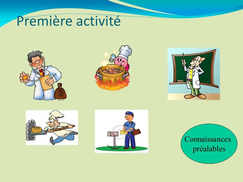 Première activité Connaissances préalables 3 3