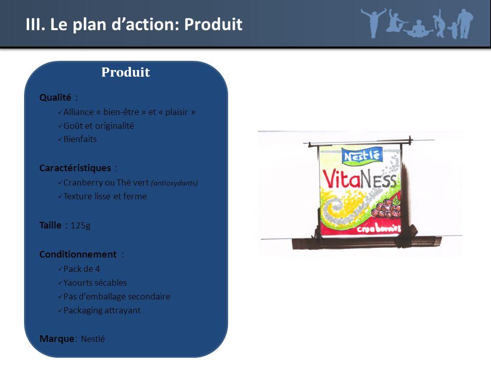 III. Le plan d'action: Produit