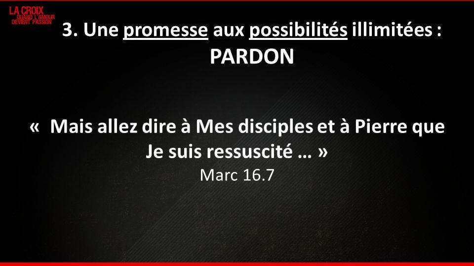 3. Une promesse aux possibilités illimitées : PARDON