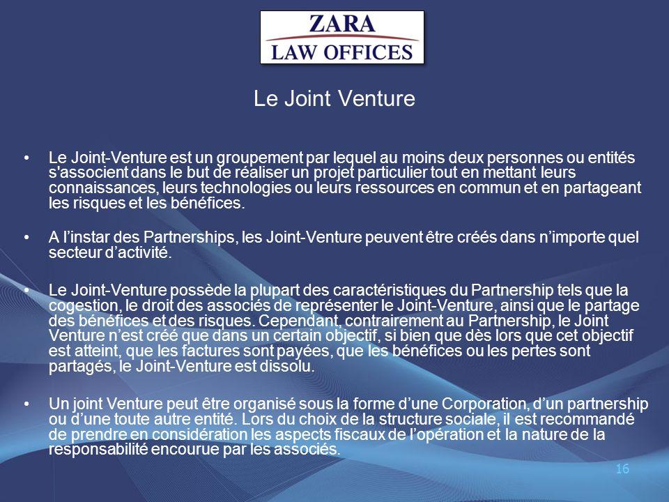 Le Joint Venture