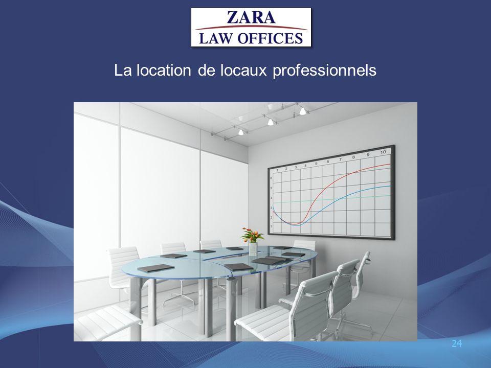 La location de locaux professionnels
