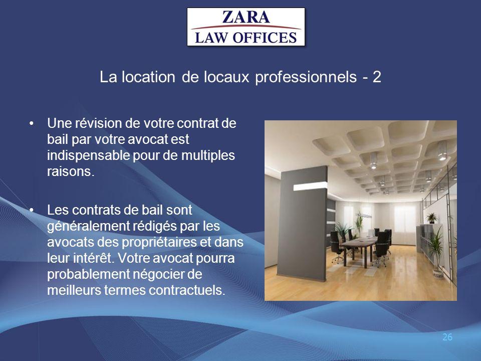 La location de locaux professionnels - 2
