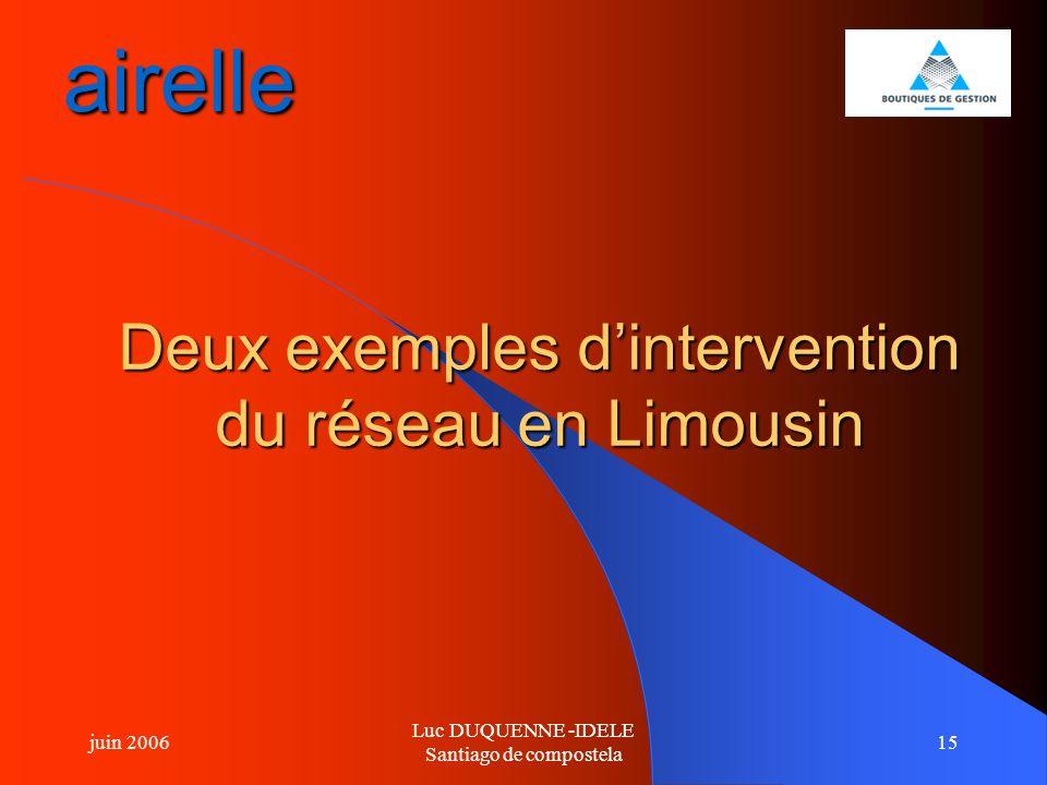 airelle Deux exemples d'intervention du réseau en Limousin