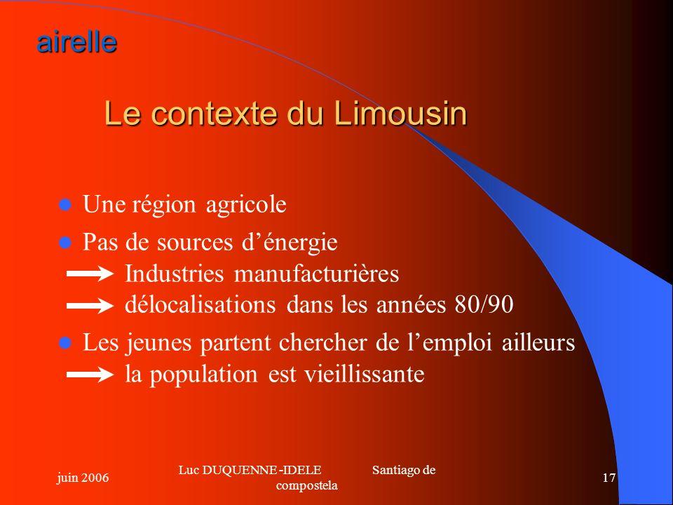 Le contexte du Limousin