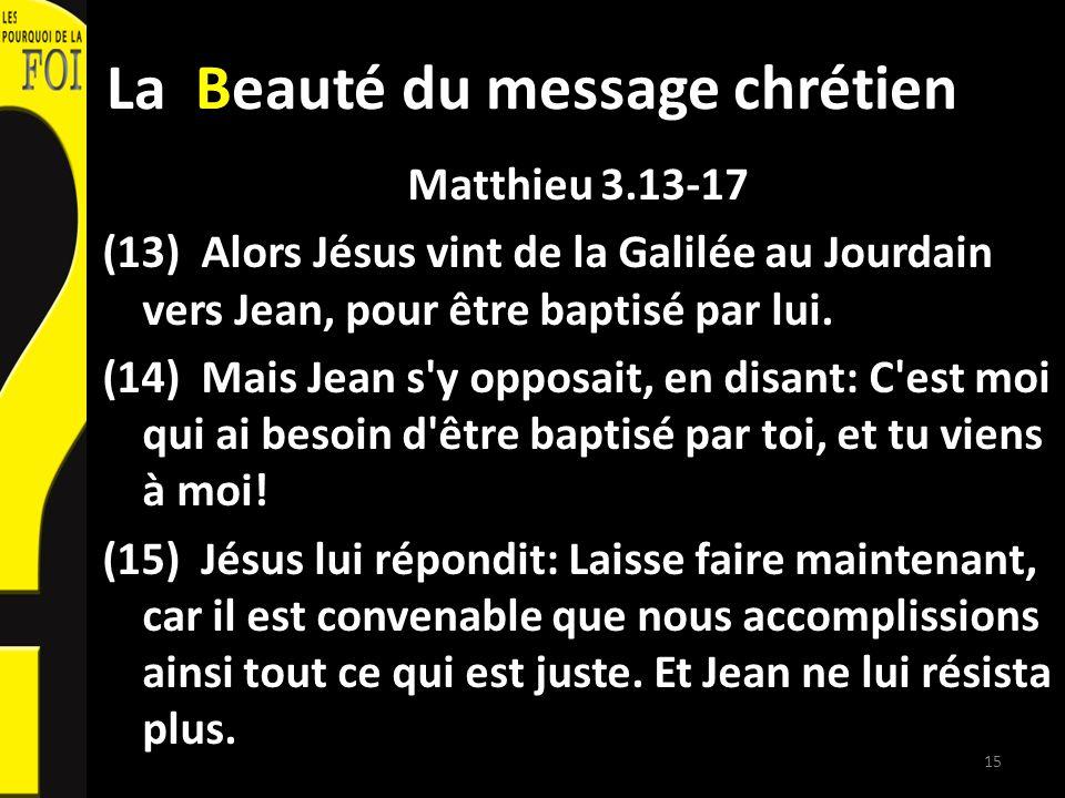 La Beauté du message chrétien