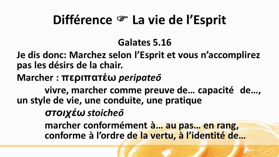 Différence  La vie de l'Esprit