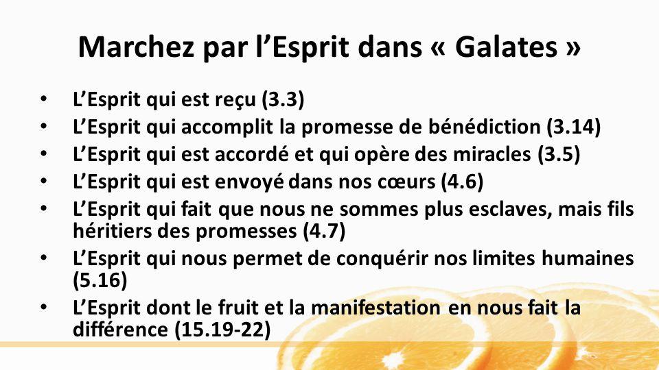 Marchez par l'Esprit dans « Galates »