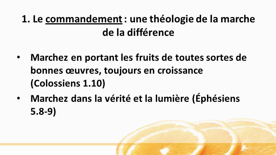 1. Le commandement : une théologie de la marche de la différence