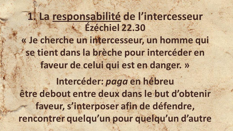 1. La responsabilité de l'intercesseur