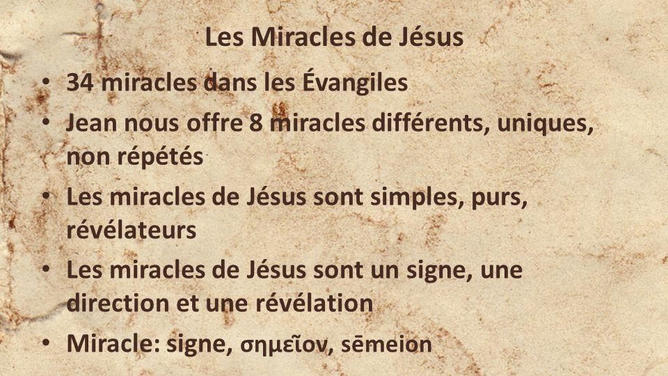 Les Miracles de Jésus 34 miracles dans les Évangiles