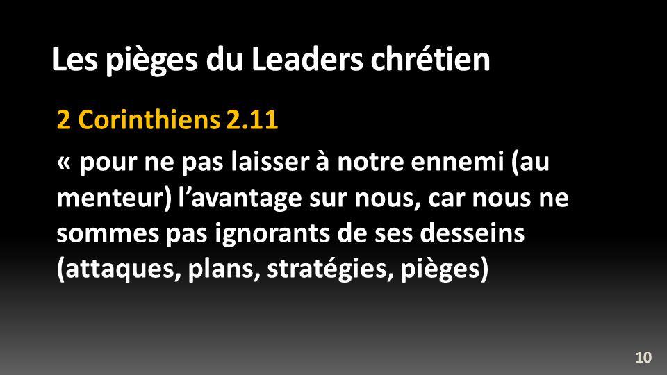 Les pièges du Leaders chrétien