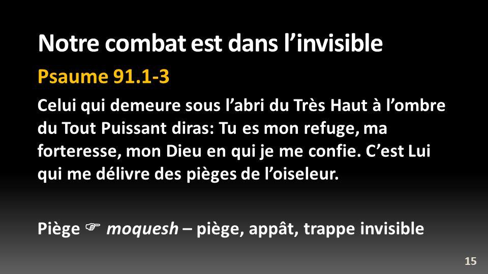 Notre combat est dans l'invisible