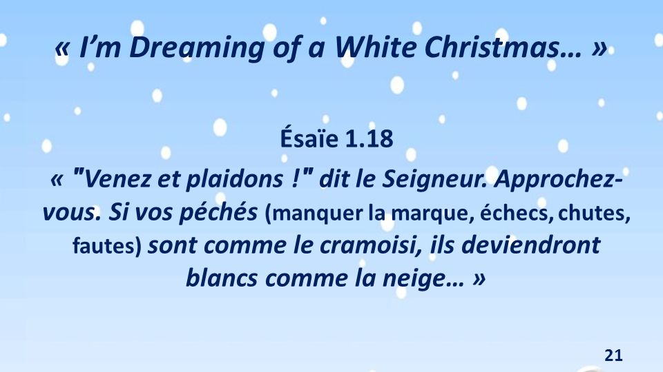 « I'm Dreaming of a White Christmas… »