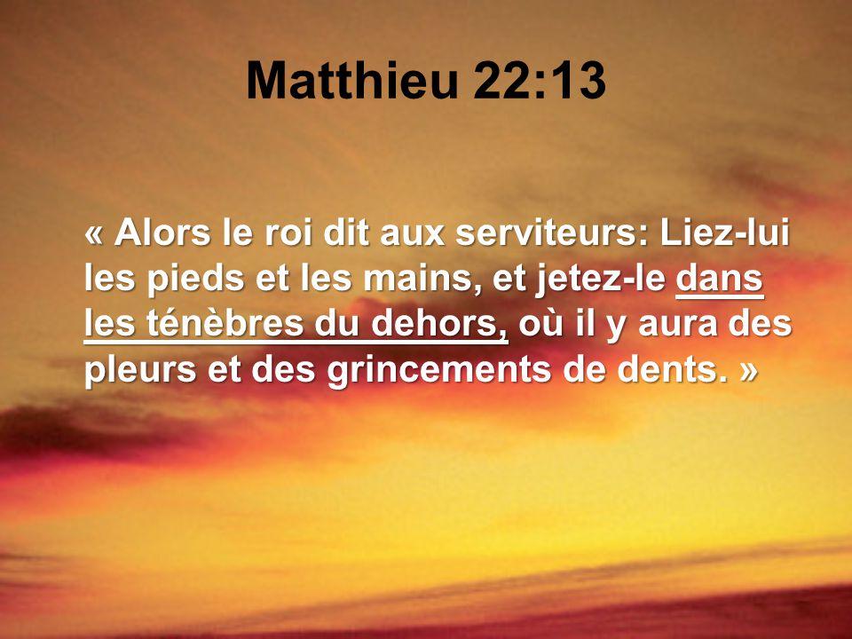 Matthieu 22:13