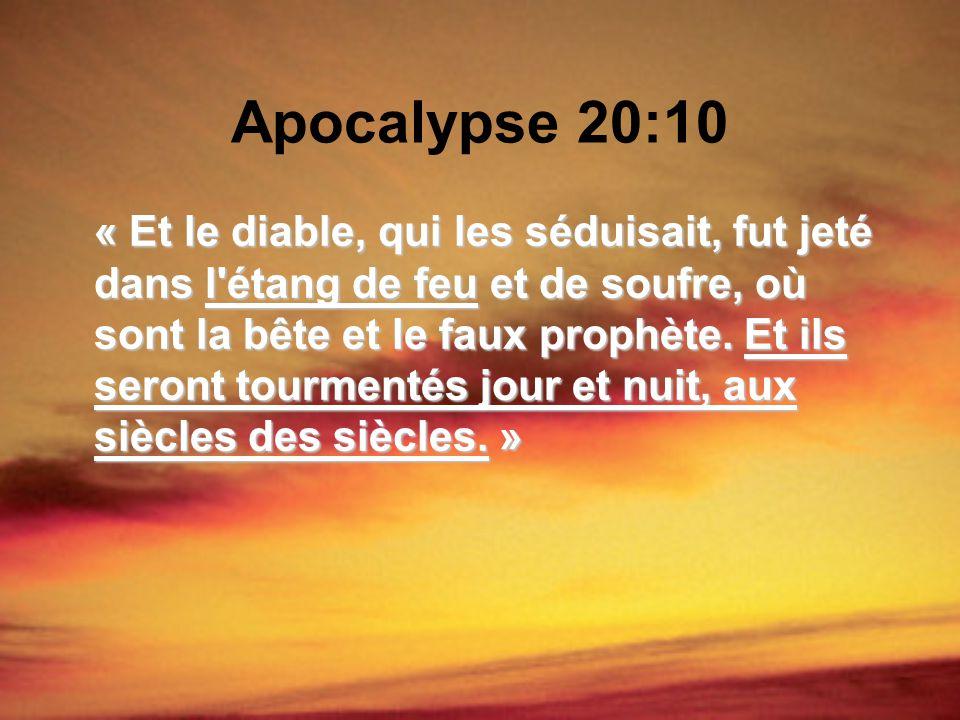 Apocalypse 20:10