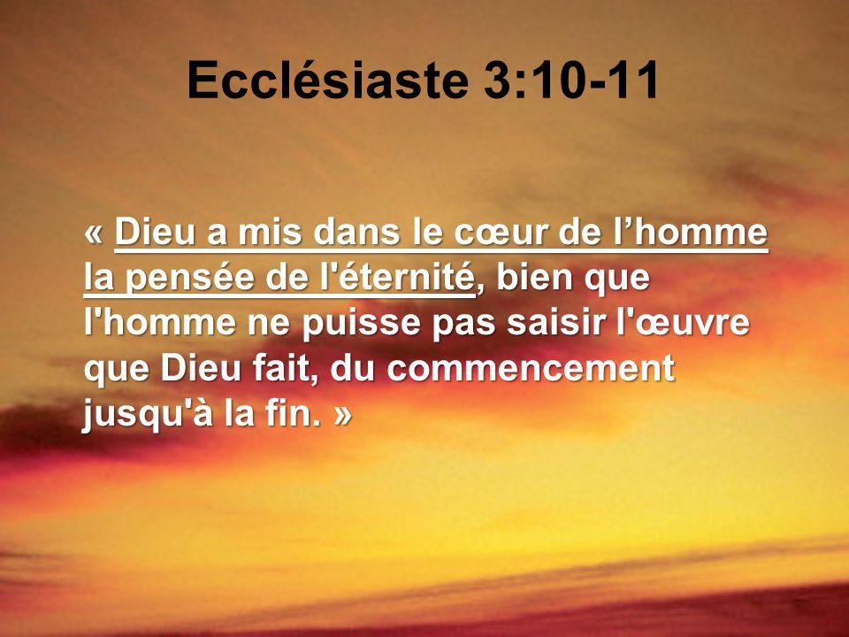 Ecclésiaste 3:10-11