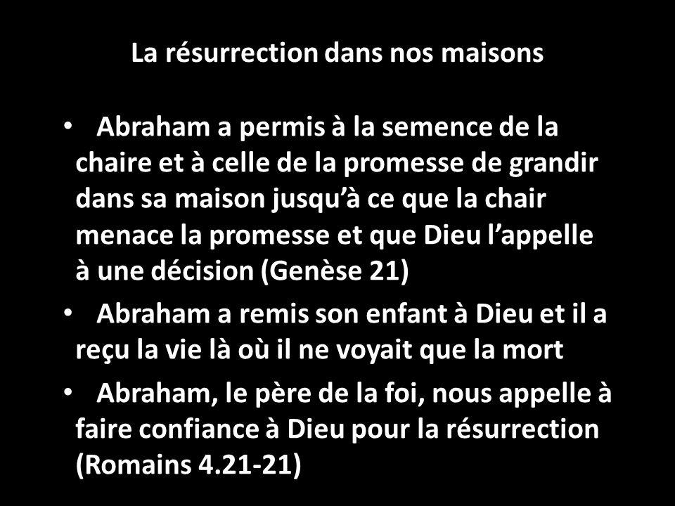 La résurrection dans nos maisons
