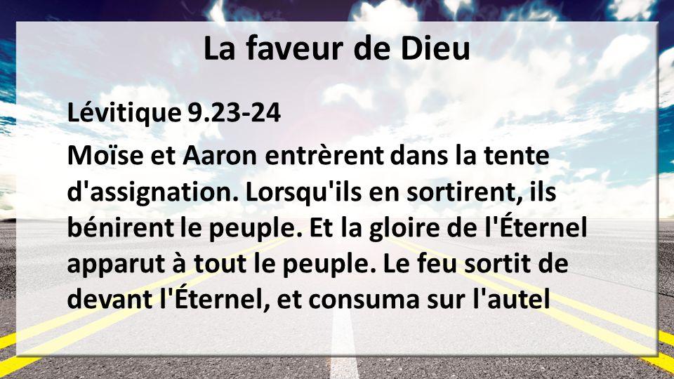 La faveur de Dieu