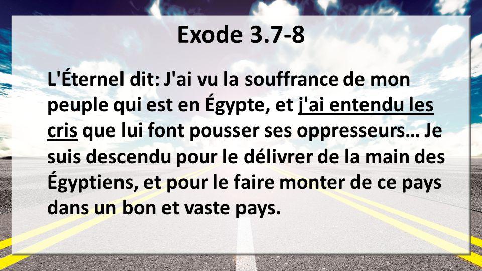 Exode 3.7-8