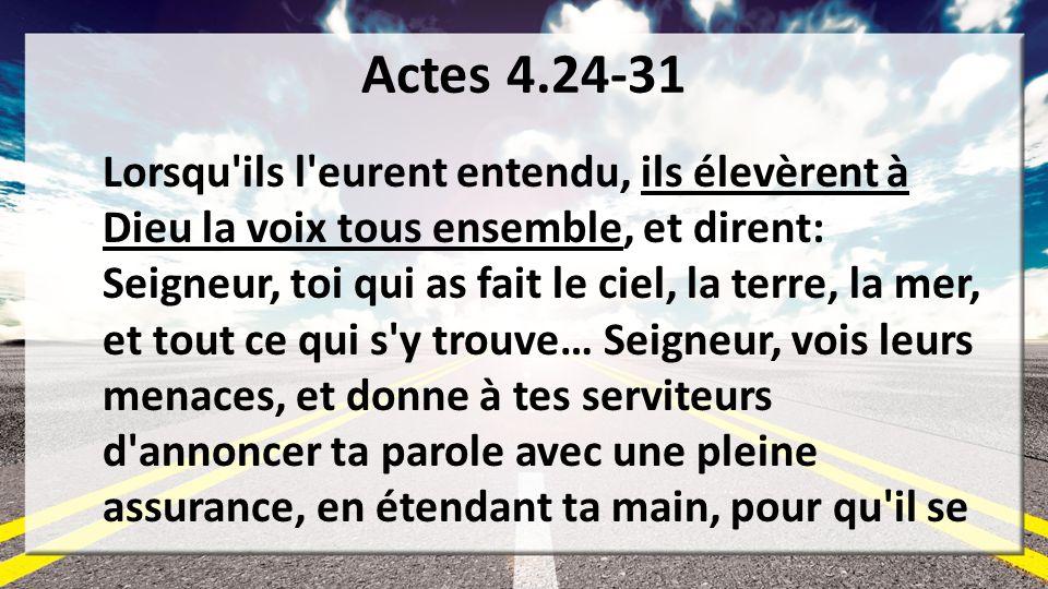 Actes 4.24-31