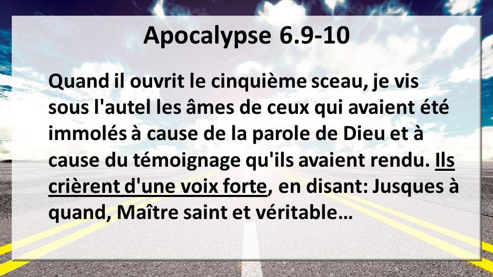 Apocalypse 6.9-10