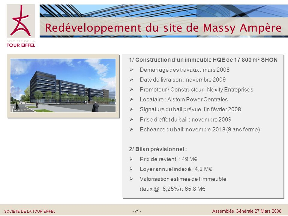 Redéveloppement du site de Massy Ampère