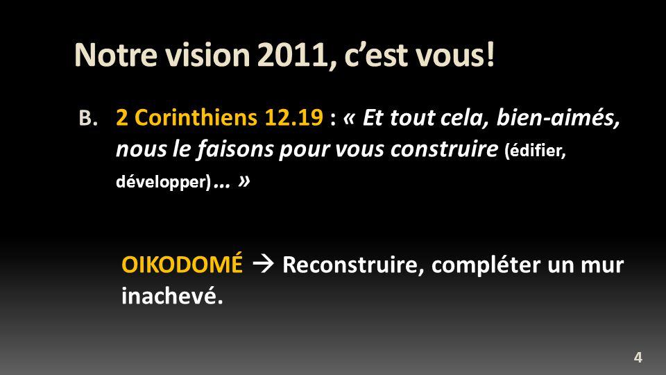 Notre vision 2011, c'est vous!