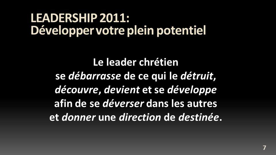 LEADERSHIP 2011: Développer votre plein potentiel